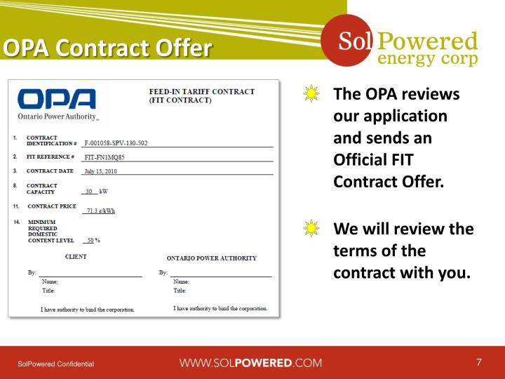 OPA Contract Offer