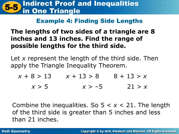 Example 4: Finding Side Lengths