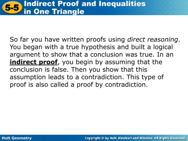 So far you have written proofs using