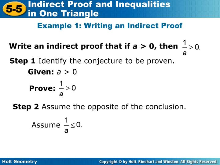 Write an indirect proof that if