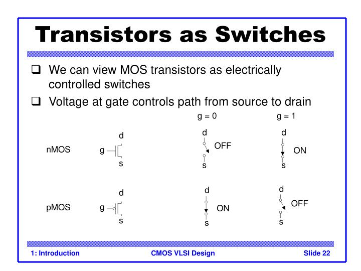 Transistors as Switches