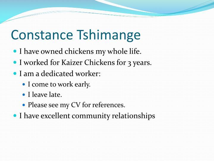 Constance tshimange