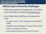 addressing community challenges