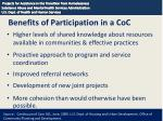 benefits of participation in a coc