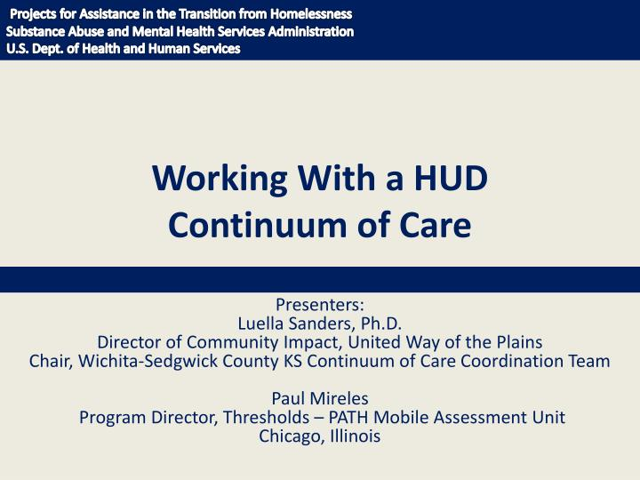 working with a hud continuum of care