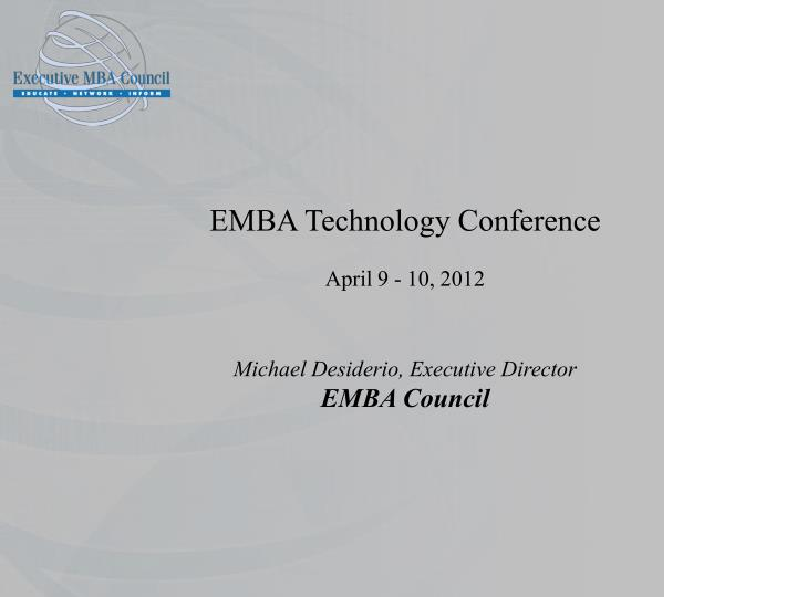 EMBA Technology Conference