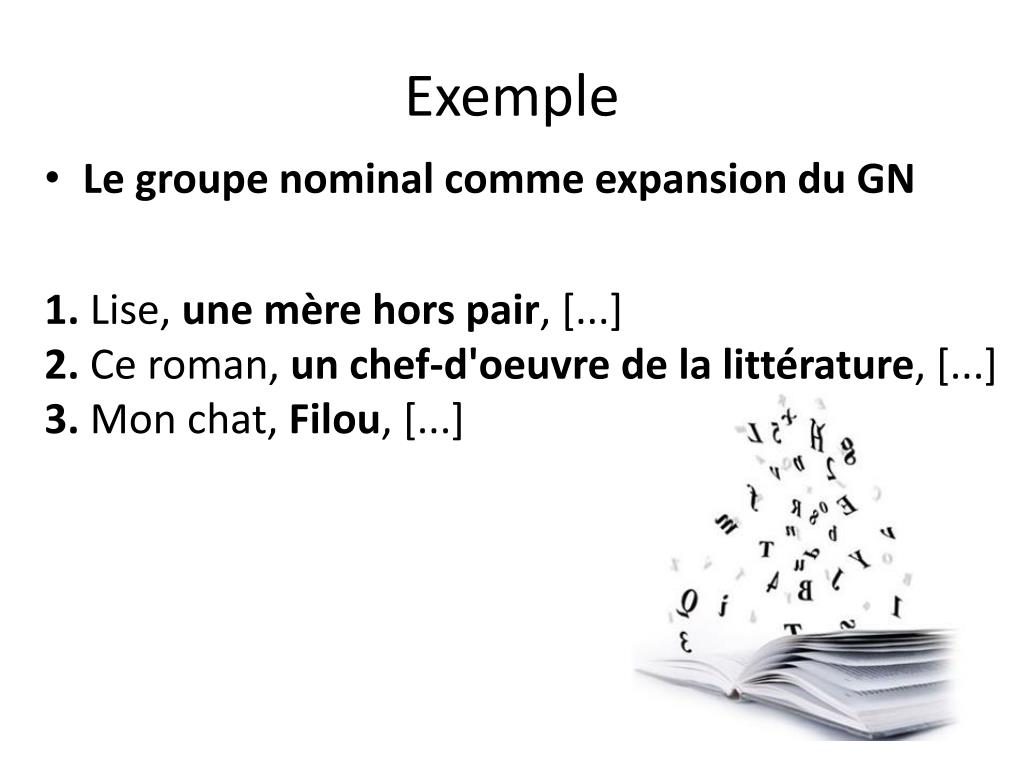 PPT - Le groupe nominal PowerPoint Presentation - ID:3079451