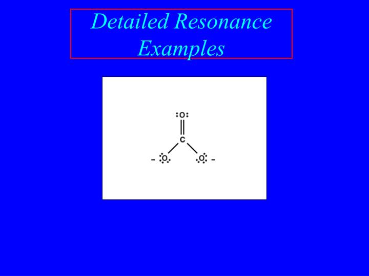 Detailed Resonance Examples