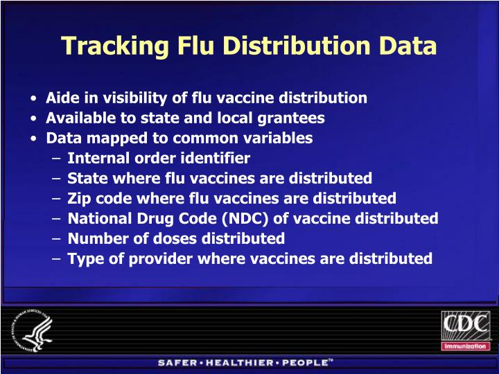 Tracking Flu Distribution Data