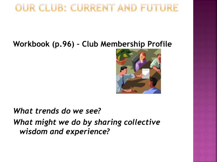 Our Club: Current and Future