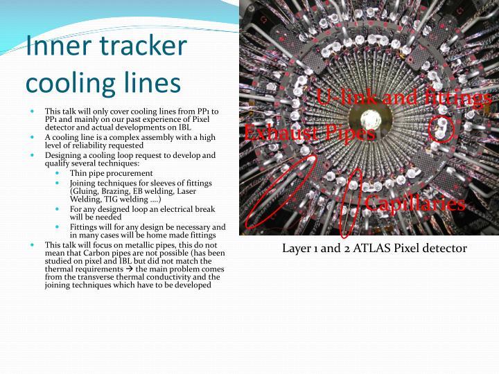 Inner tracker cooling lines