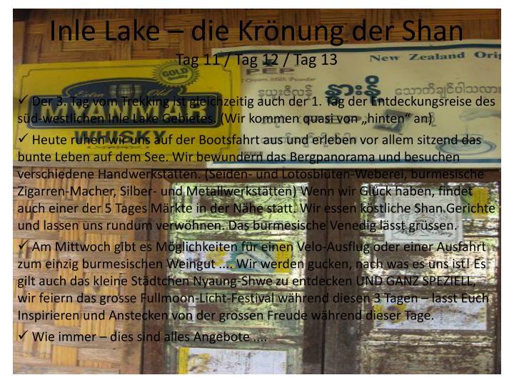 Inle Lake – die Krönung der Shan
