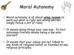 moral autonomy