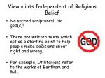 viewpoints independent of religious belief
