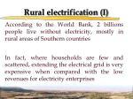rural electrification i