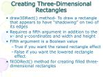 creating three dimensional rectangles