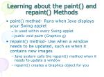 learning about the paint and repaint methods