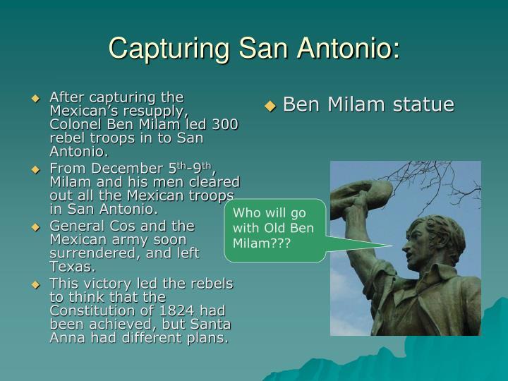 Capturing San Antonio: