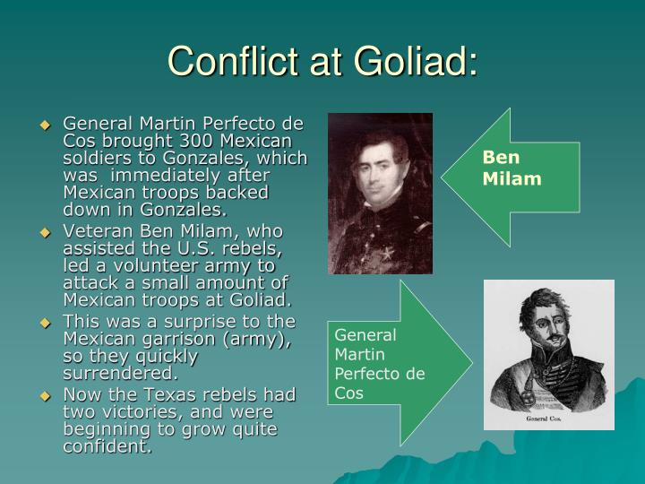 Conflict at goliad