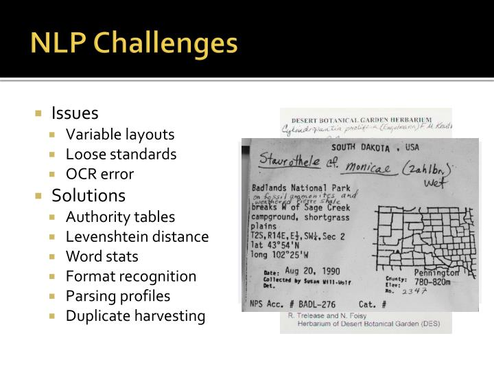 PPT - Integrating OCR and NLP to D igitize 2.3 Million Lichen and ...