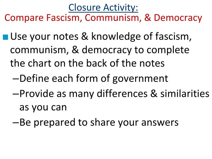 Closure Activity: