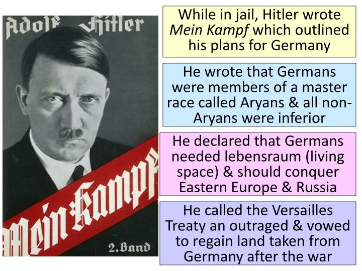 While in jail, Hitler wrote