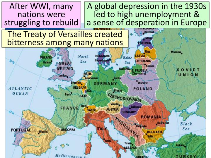 After WWI, many nations were struggling to rebuild