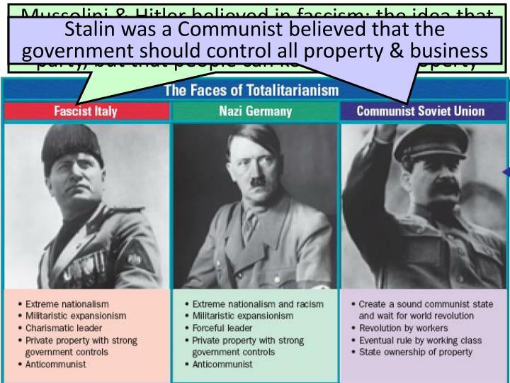 Totalitarian Regimes in Europe & Asia