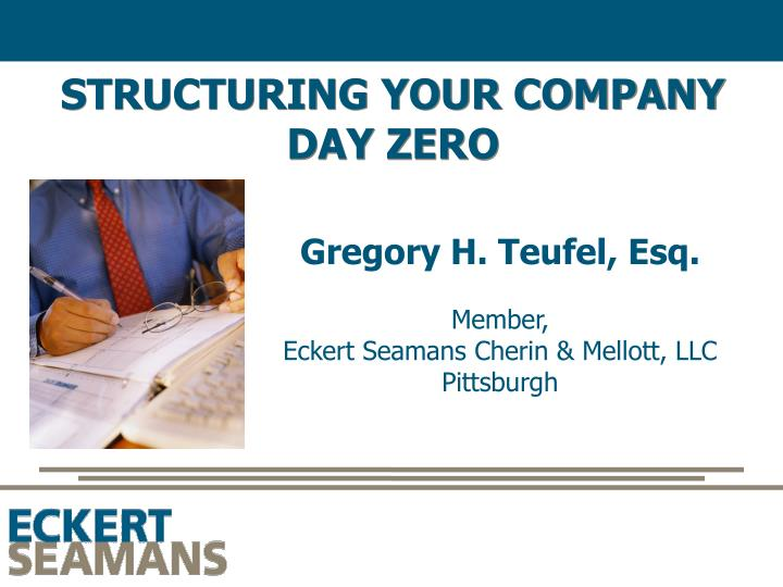 structuring your company day zero n.