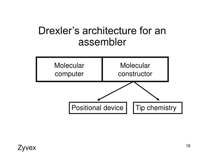 Drexler's architecture for an assembler