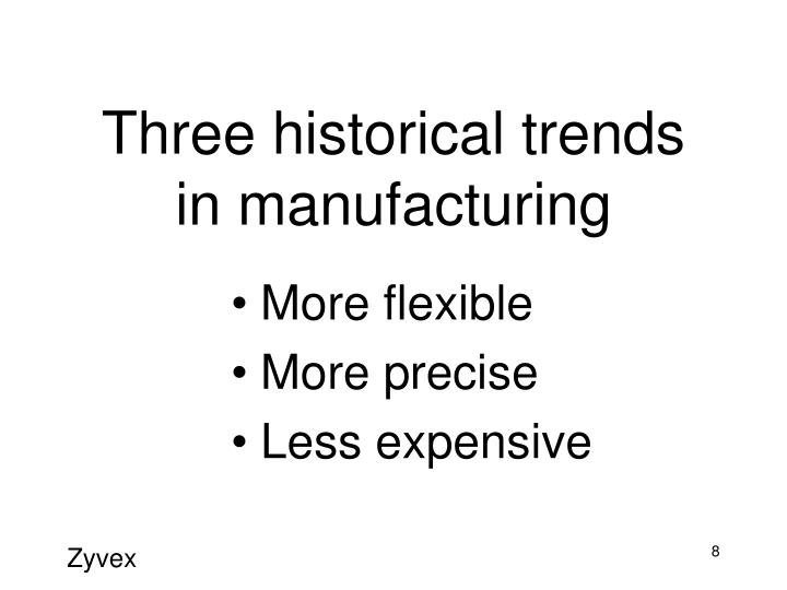 Three historical trends