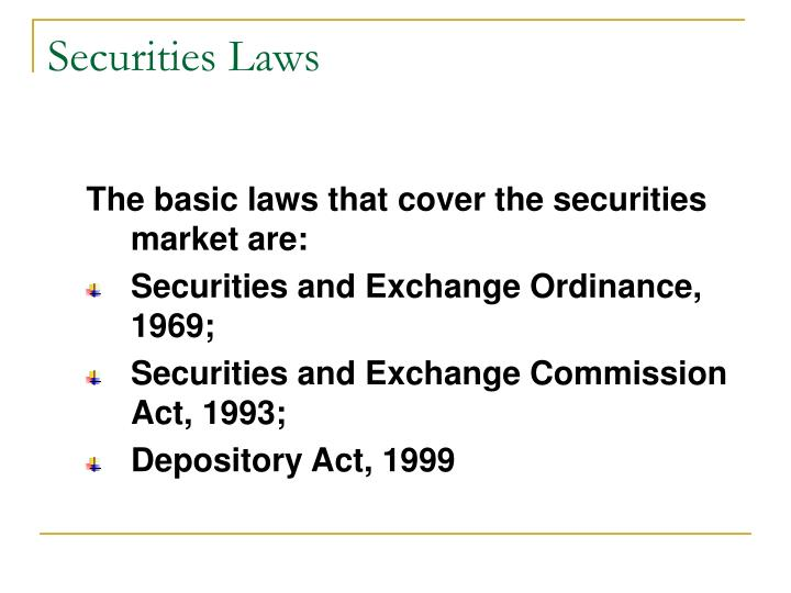 Securities Laws
