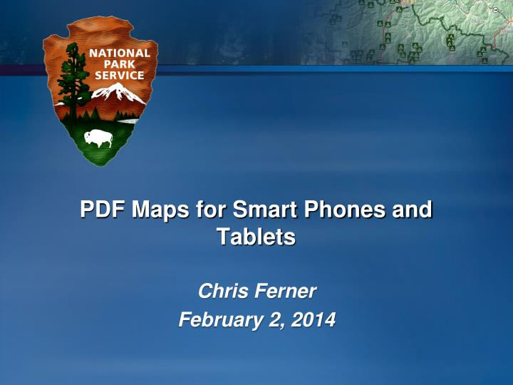 Pdf maps for smart phones and tablets