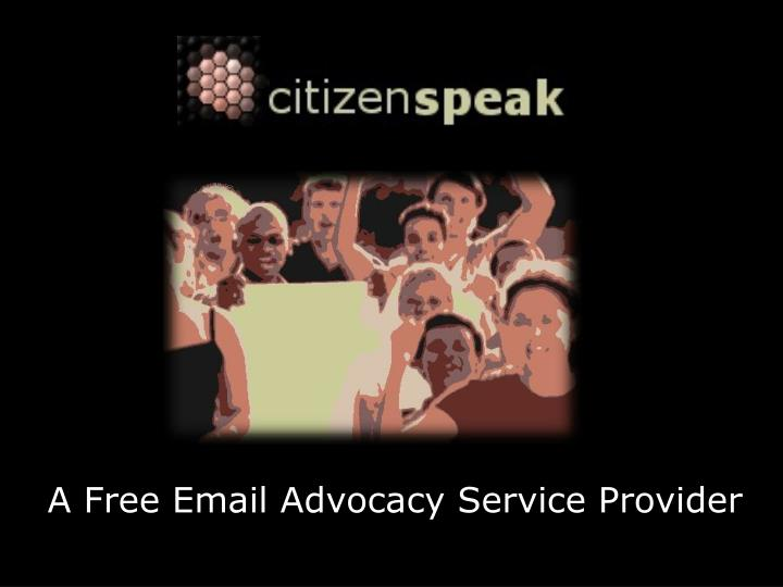 A free email advocacy service provider