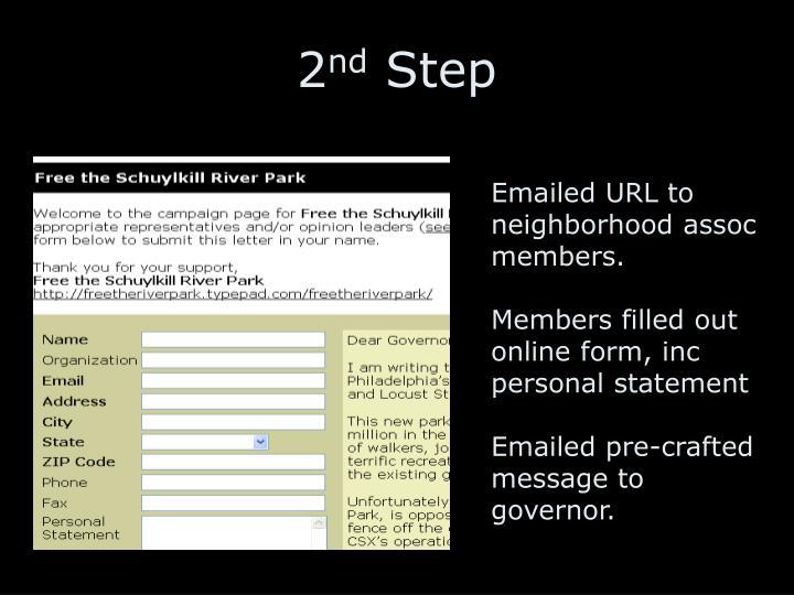 Emailed URL to neighborhood assoc members.