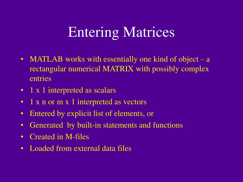 PPT - What is MATLAB ? PowerPoint Presentation - ID:3080333