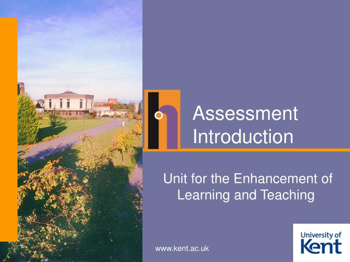 Assessment introduction