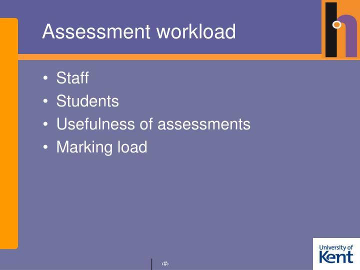Assessment workload