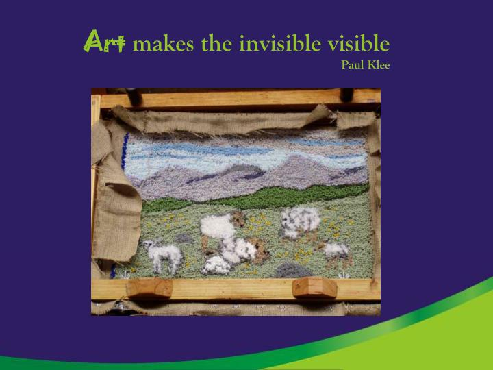 Art makes the invisible visible paul klee