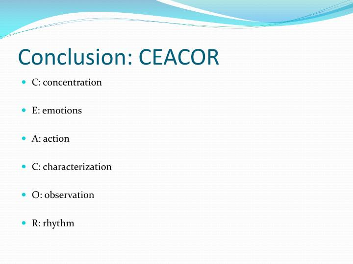 Conclusion: CEACOR