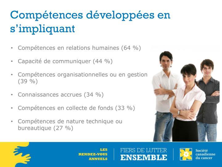 Compétences développées en s'impliquant