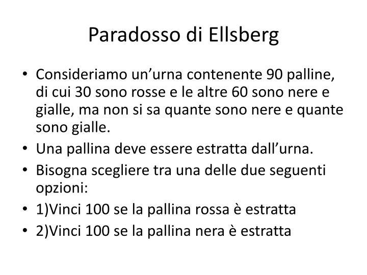 Paradosso di ellsberg