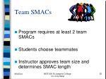 team smacs
