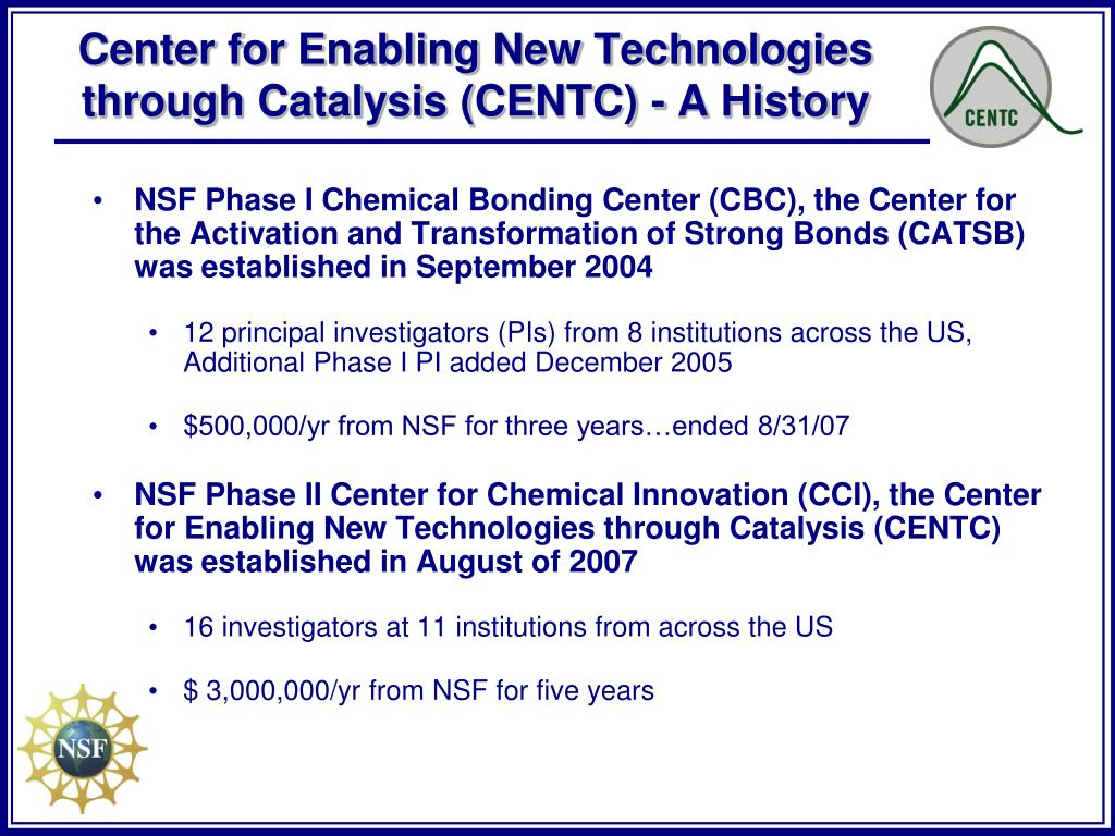 PPT - Phase II Center for Chemical Innovation PowerPoint