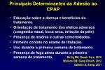 principais determinantes da ades o ao cpap