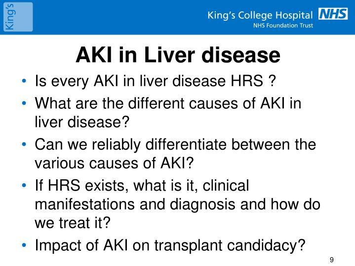AKI in Liver disease