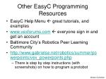 other easyc programming resources