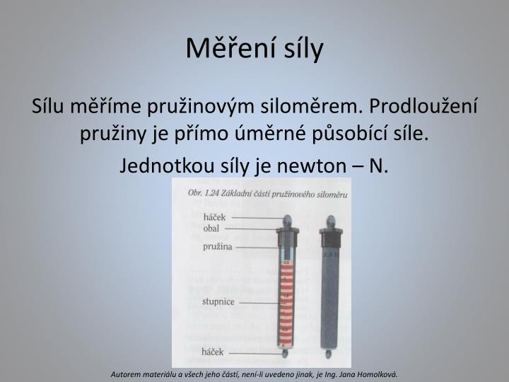 Měření síly