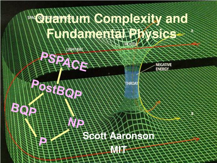 quantum complexity and fundamental physics n.