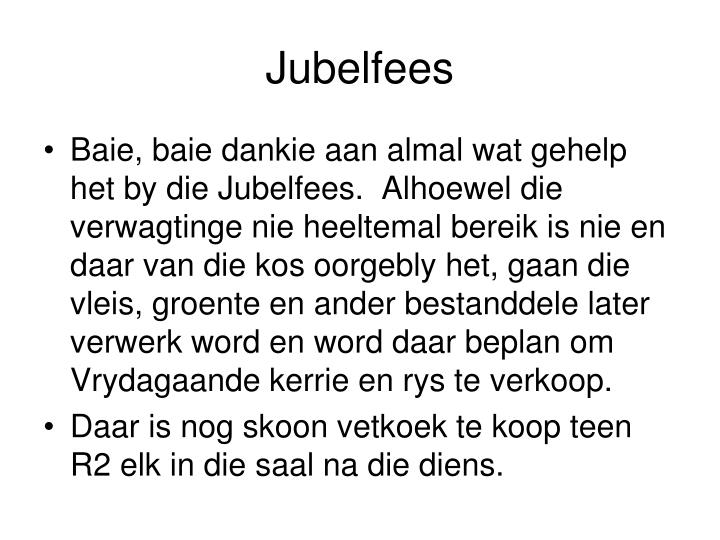 Jubelfees